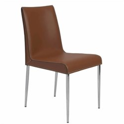 Eurostyle Cam Side Chair in Cognac