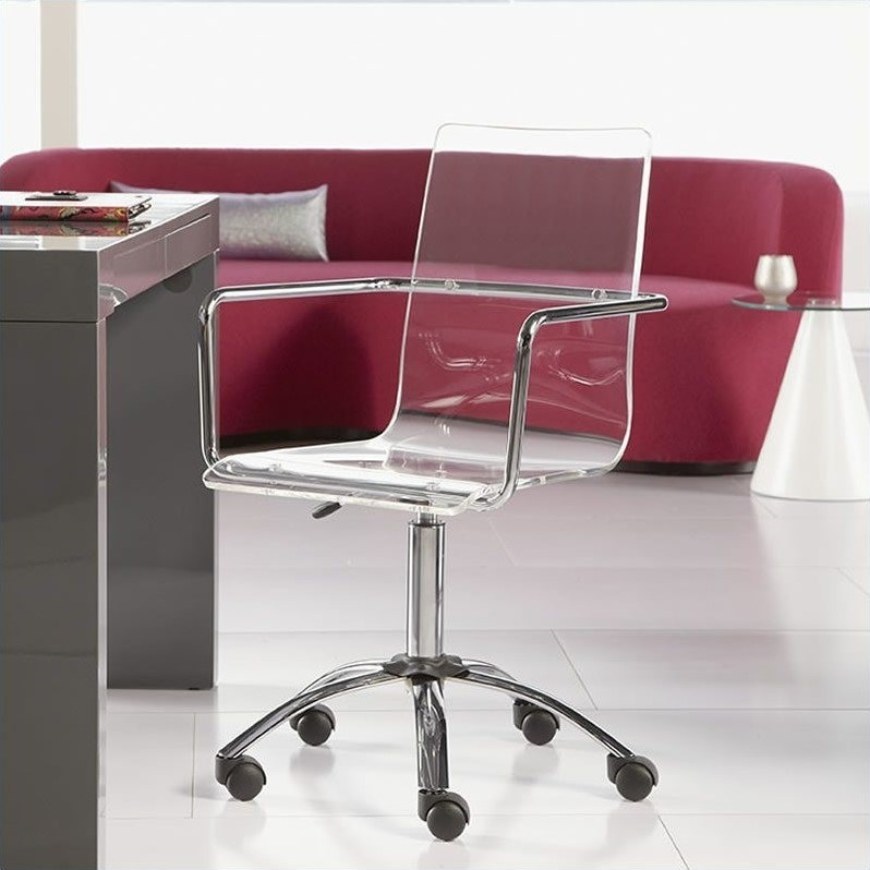 Eurostyle Chloe Office Chair in Clear