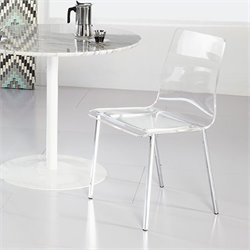 Eurostyle Chloe Side Chair in Clear