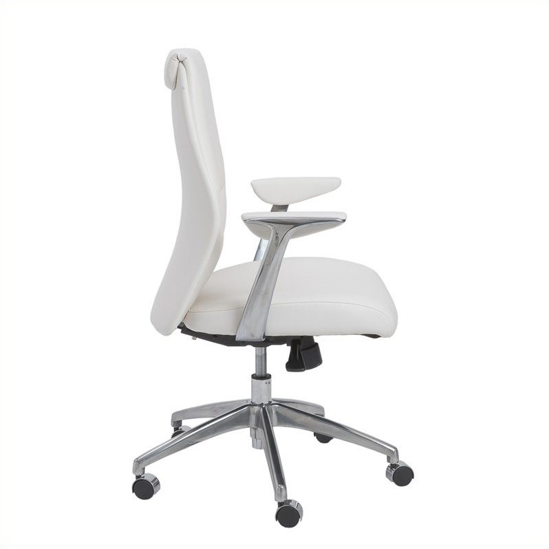 Eurostyle Crosby Low Back Office Chair in White