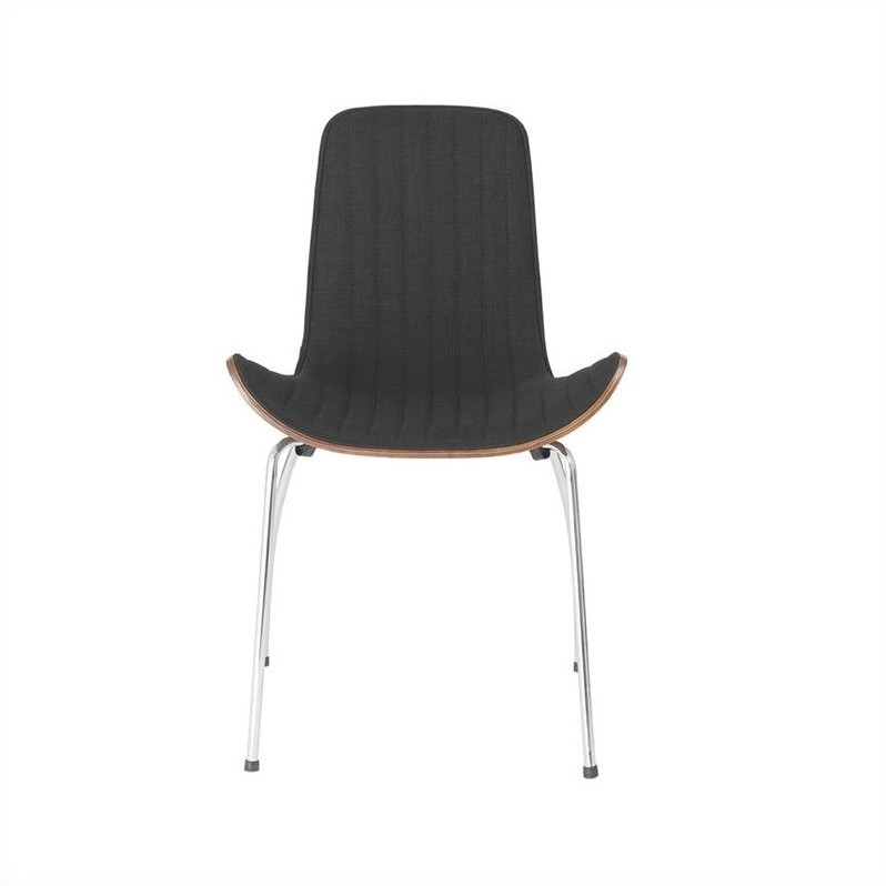 Eurostyle Curt  Dining Chair in Black and Walnut