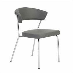 Eurostyle Draco Side Chair in Gray