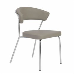 Eurostyle Draco Side Chair in Taupe