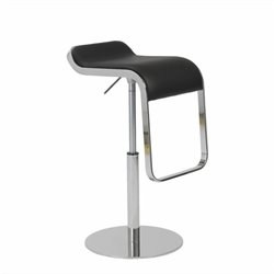 Eurostyle Freddy Adjustable Bar Stool in Black