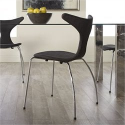 Eurostyle Frida Side Chair in Dark Gray Fabric