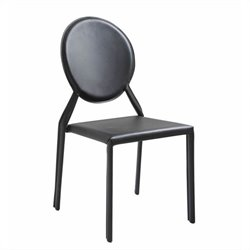 Eurostyle Isabella Side Chair in Black Leather