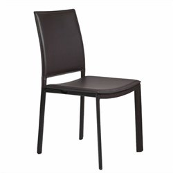 Eurostyle Kate Side Chair in Brown Leatherette