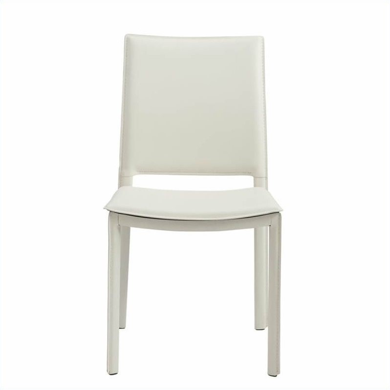 Eurostyle Kate  Dining Chair in White Leatherette