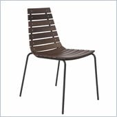 Eurostyle Siari Side Chair in Walnut and Black