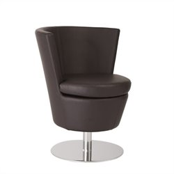 Eurostyle Squire Swivel Chair in Dark Brown Leatherette