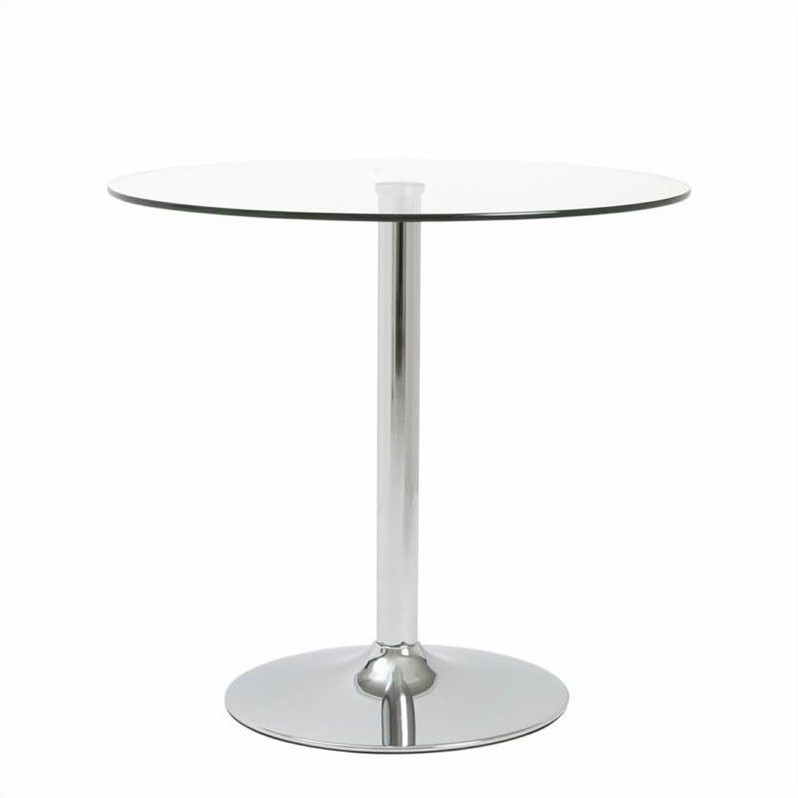 Eurostyle Talia 31.5'' Bistro Dining Table in Clear