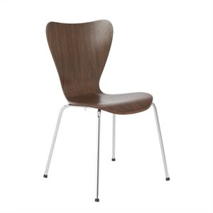 Eurostyle Tendy Pro Stack Stacking Dining Chair in Walnut