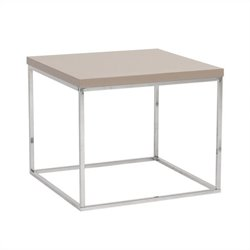 Eurostyle Teresa Side Table in Taupe Lacquer