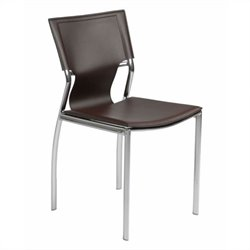 Eurostyle Vinnie  Dining Chair in Brown Leather