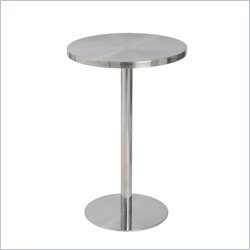 Eurostyle Caitlin Counter Table in Stainless Steel