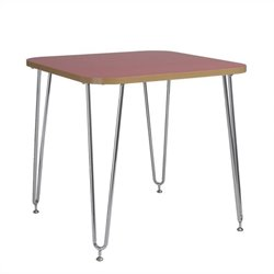 Eurostyle Hanh Activity Table in Red and Chrome