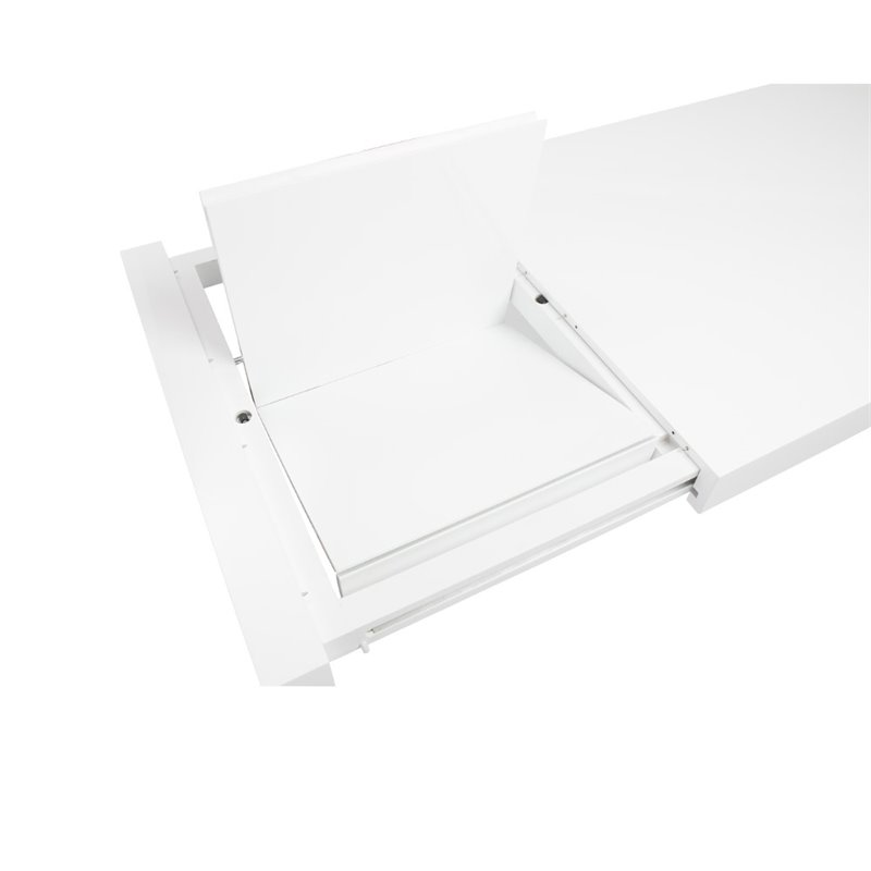 Eurostyle Adara Rectangle Extension Table in White Lacquer
