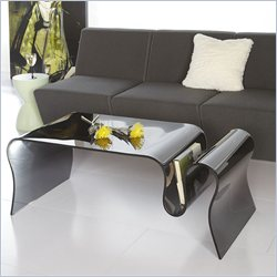 Eurostyle Fausta Glass Coffee Table in Smoked