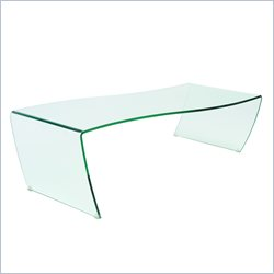 Eurostyle Orfea Glass Coffee Table in Clear