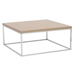 Eurostyle Teresa Square Coffee Table in Taupe Lacquer