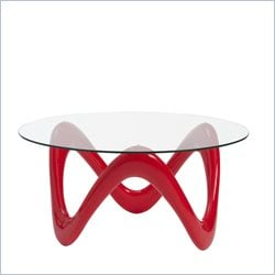 Eurostyle Chelsea Glass Coffee Table in High Gloss Red