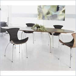 Eurostyle Dana Oval Extension Table in Walnut