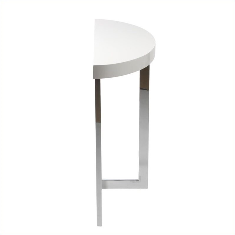 Eurostyle oliver demilune console table in white lacquer 28053a 28053b kit White demilune console table