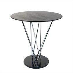 Eurostyle Stacy Bar Table in Black and Ebony
