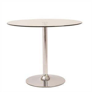 Eurostyle Talia Round Dining Table in Clear