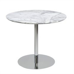 Eurostyle Tammy Round Dining Table in Marble