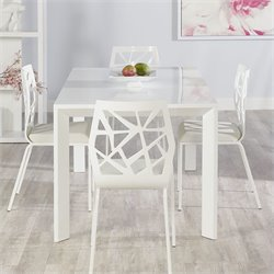 Eurostyle Adara Sophia 5 Piece Dining Set in White
