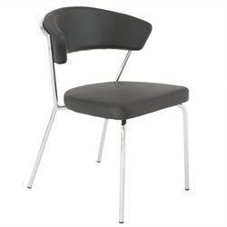 Eurostyle Draco Side Chair in Black and Chrome