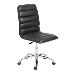 Eurostyle Jaleh Office Chair No Arms in Black and Chrome