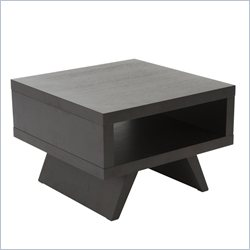 Eurostyle Monique Side Table in Wenge