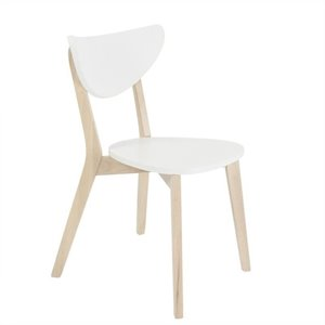 Eurostyle Montana  Dining Chair in White and Natural