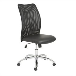 Eurostyle Sabati Mesh Office Chair No Arms in Black and Chrome