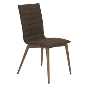 Eurostyle Yoland  Dining Chair in Brown and Walnut