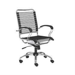 Eurostyle Bungie J-Arm Office Chair in Black and Chrome