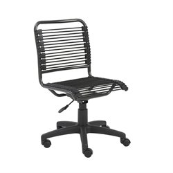 Eurostyle Bungie Low Back Office Chair in Black and Graphite Black