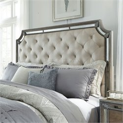 Pulaski Karissa Queen Upholstered Headboard in Ash