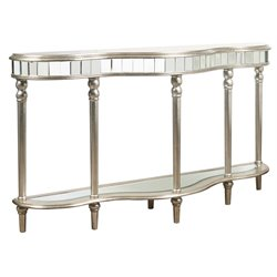 Pulaski Lucia Metallic Mirrored Console Table in Silver