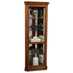 Pulaski Corner Curio in Dark Cherry