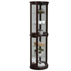 MER-1242 Half Round Curio in Warm Cherry