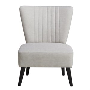 Pulaski Cream Channeled Back Armless Accent Chair
