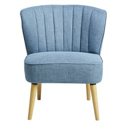Pulaski Accentrics Home Channeled Back Armless Accent Chair in Blue