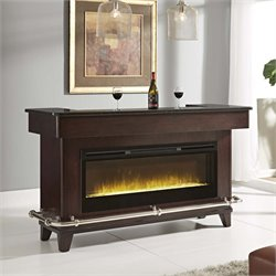 Pulaski Evo Fireplace Home Bar in Brown