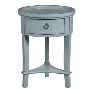 Pulaski Accentrics Home Round Accent Table in Blue