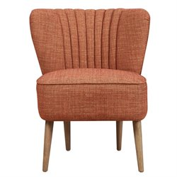 Pulaski Vertically Channeled Accent Chair in Ember