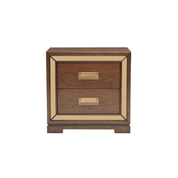 Pulaski 2 Drawer Nightstand in Brown