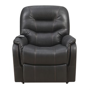 Pulaski Prime Resources Heat and Massaging Lift Recliner in Black